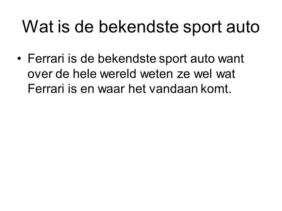 Wat is de bekendste sport auto