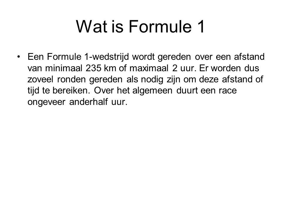 Wat is Formule 1