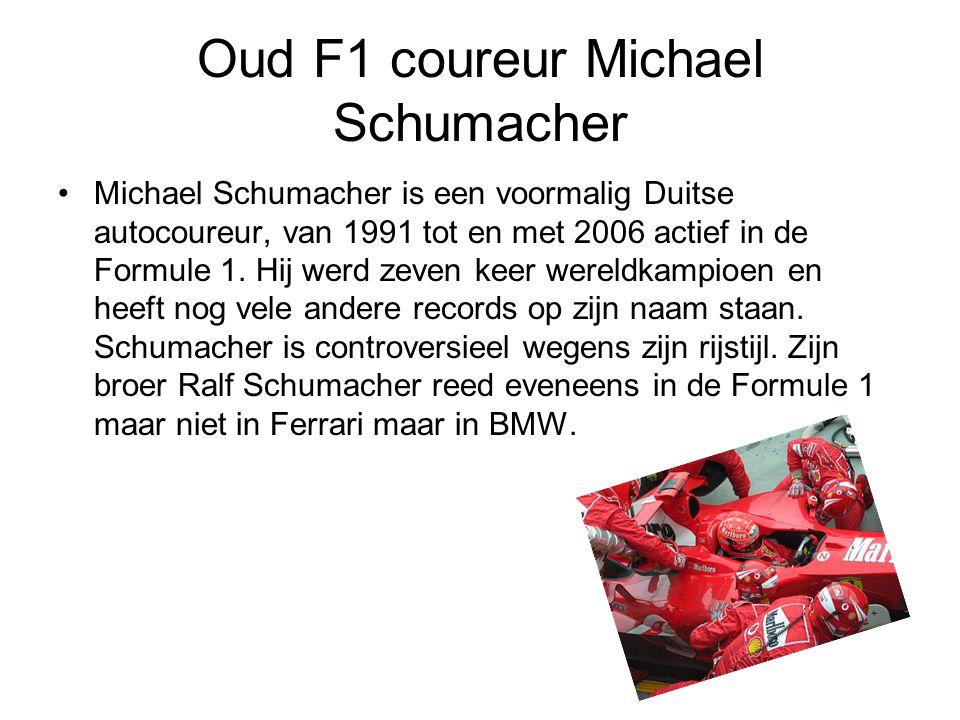 Oud F1 coureur Michael Schumacher