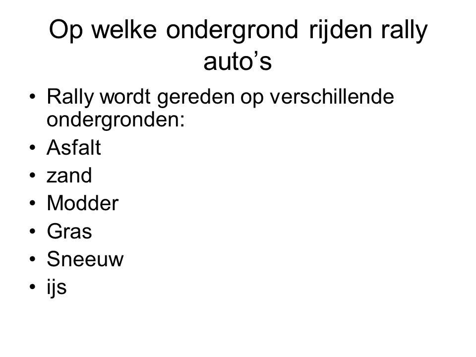 Op welke ondergrond rijden rally auto's