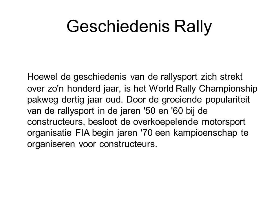 Geschiedenis Rally