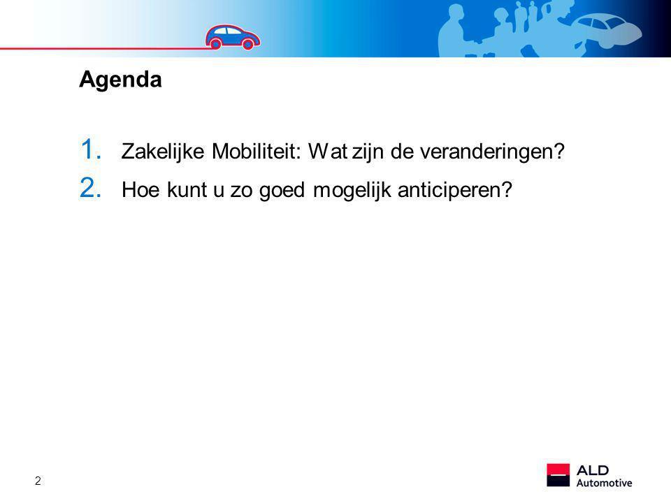 Agenda Zakelijke Mobiliteit: Wat zijn de veranderingen
