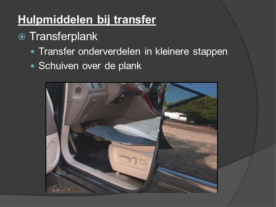 Hulpmiddelen bij transfer Transferplank