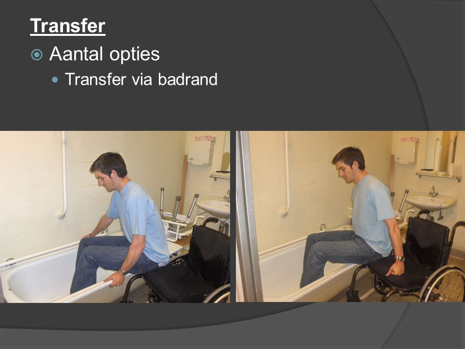 Transfer Aantal opties Transfer via badrand