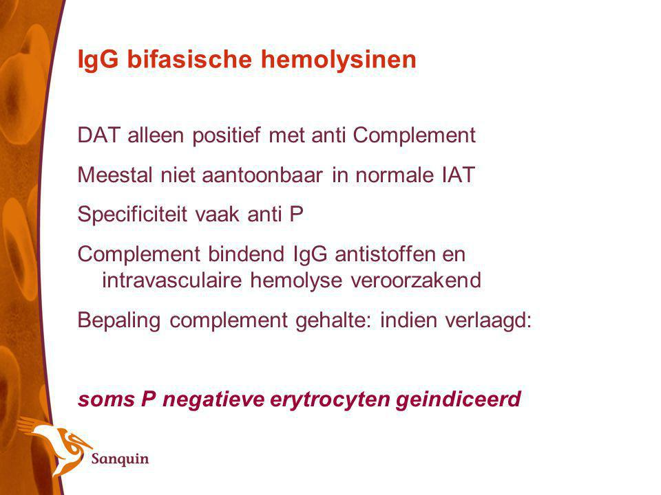 IgG bifasische hemolysinen
