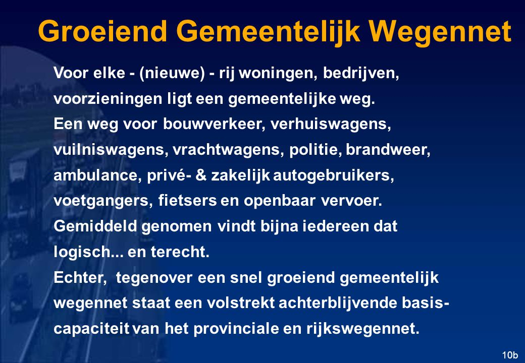 Groeiend Gemeentelijk Wegennet