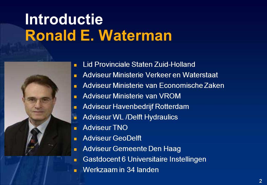 Introductie Ronald E. Waterman