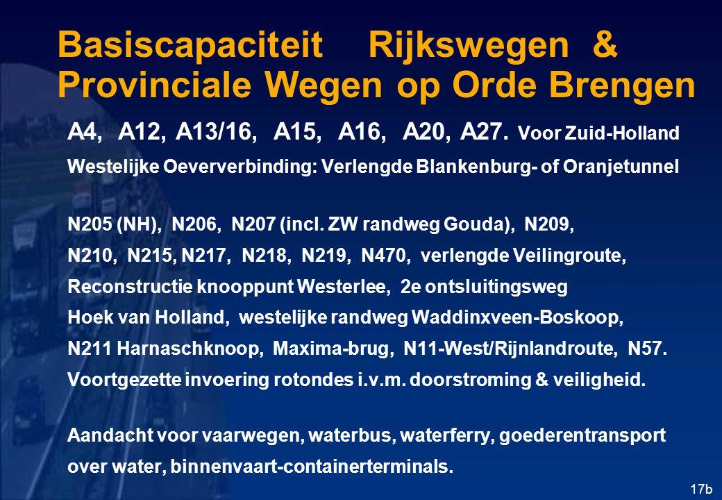 Basiscapaciteit Rijkswegen & Provinciale Wegen op Orde Brengen