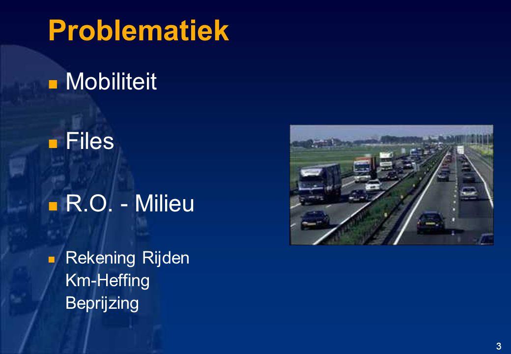 Problematiek Mobiliteit Files R.O. - Milieu Rekening Rijden Km-Heffing