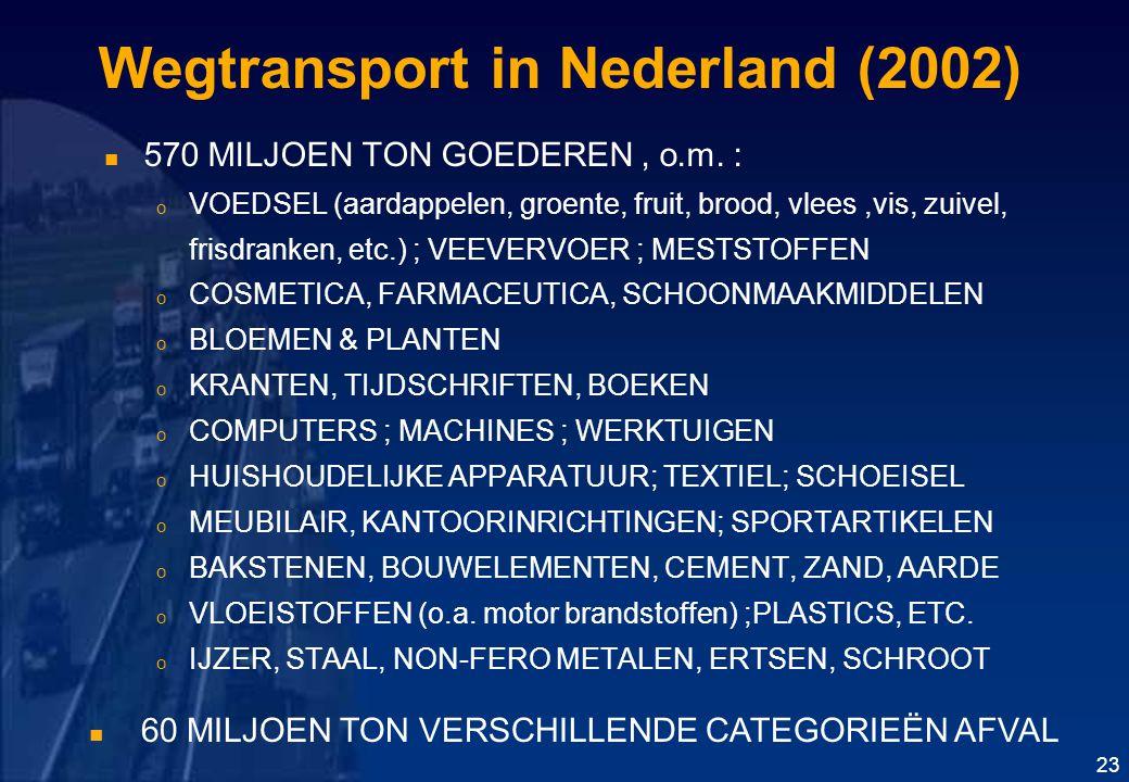 Wegtransport in Nederland (2002)