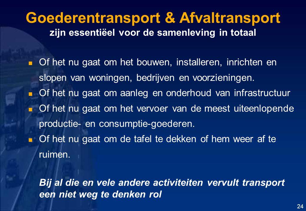 Goederentransport & Afvaltransport zijn essentiëel voor de samenleving in totaal
