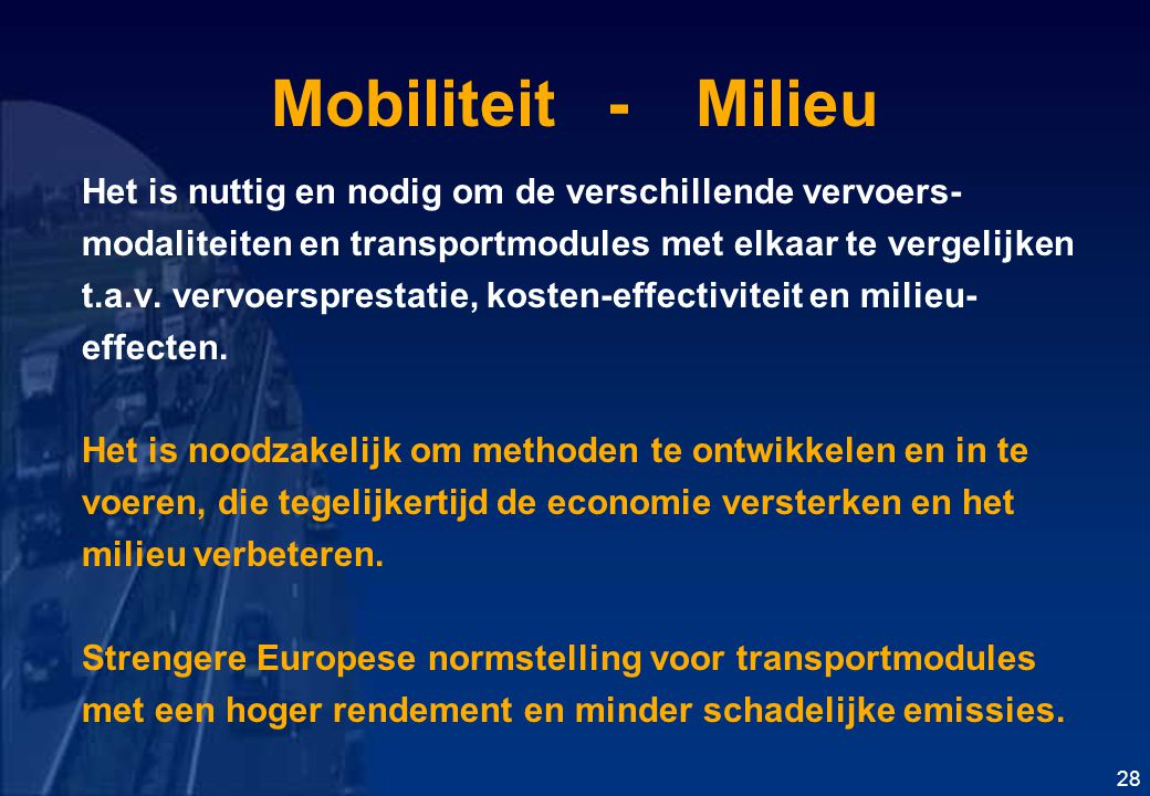 Mobiliteit - Milieu