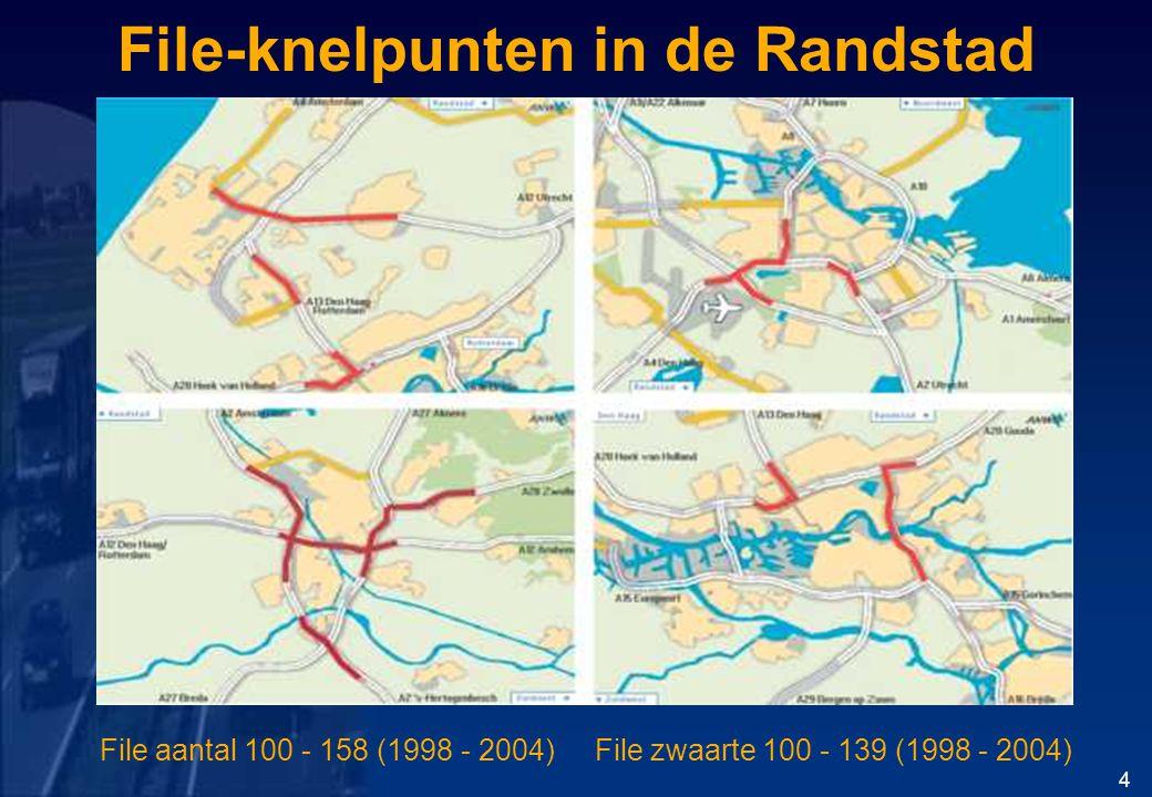 File-knelpunten in de Randstad