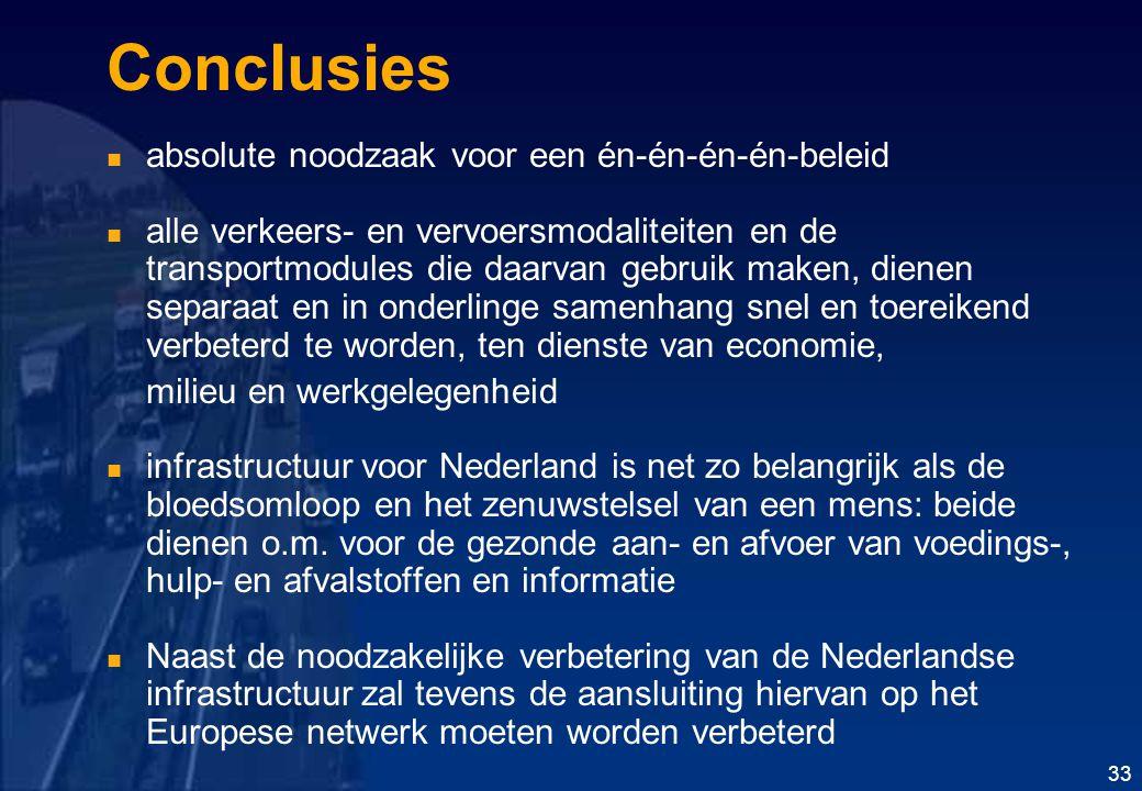 Conclusies absolute noodzaak voor een én-én-én-én-beleid