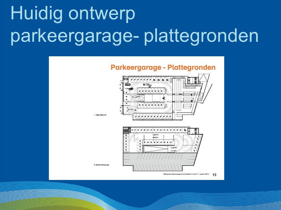 Huidig ontwerp parkeergarage- plattegronden
