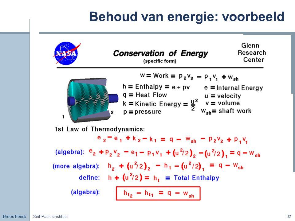Behoud van energie: voorbeeld