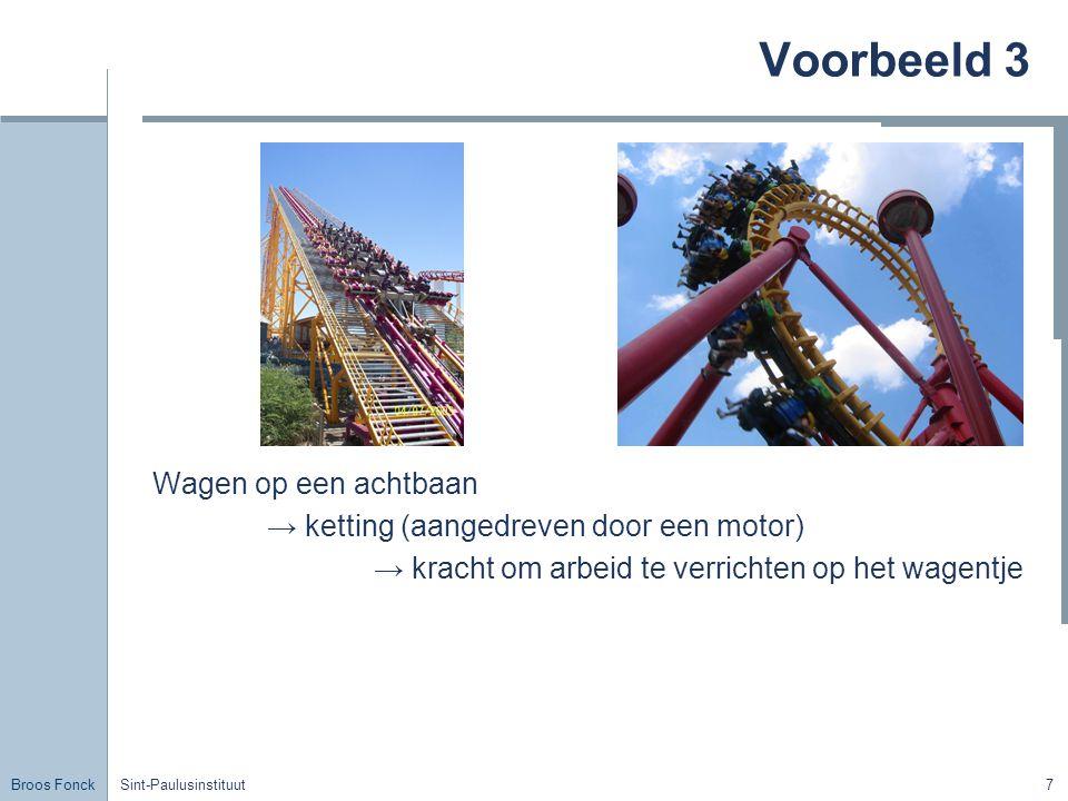 Voorbeeld 3 Wagen op een achtbaan