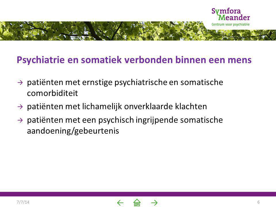 Psychiatrie en somatiek verbonden binnen een mens