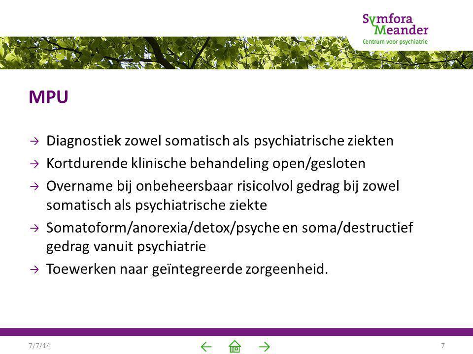 MPU Diagnostiek zowel somatisch als psychiatrische ziekten