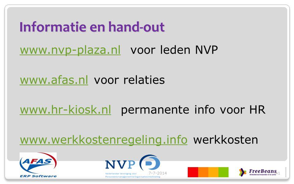 Informatie en hand-out