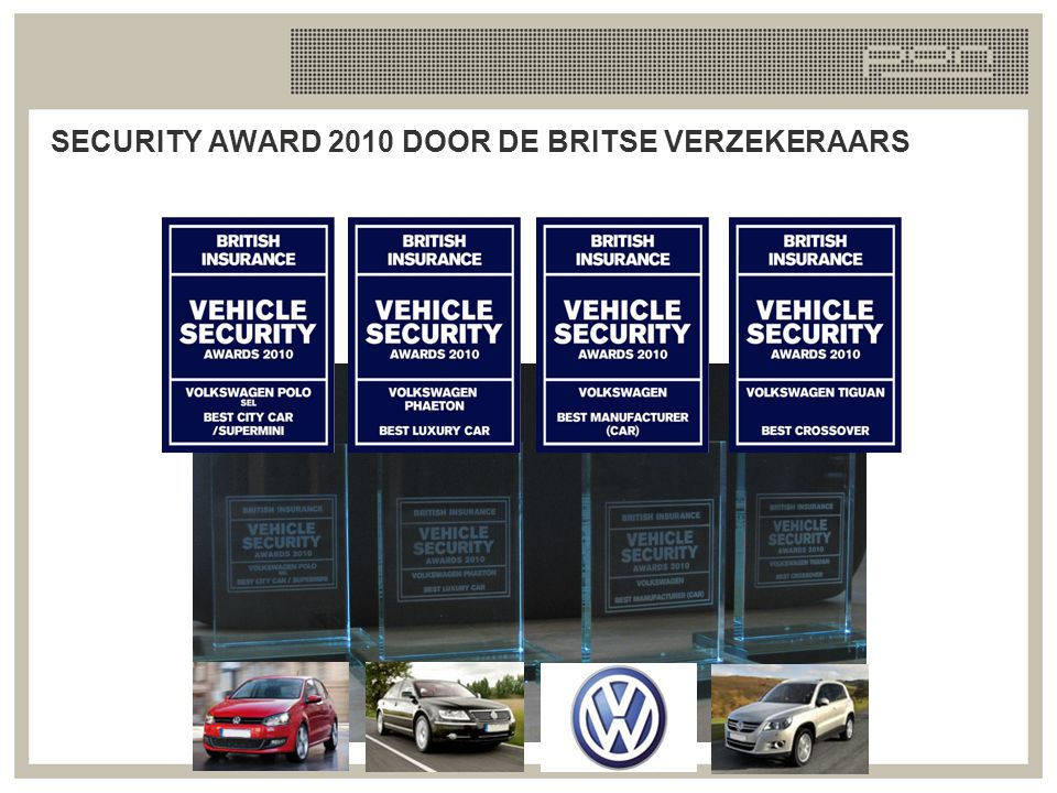 SECURITY AWARD 2010 DOOR DE BRITSE VERZEKERAARS