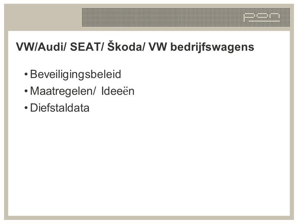 VW/Audi/ SEAT/ Škoda/ VW bedrijfswagens