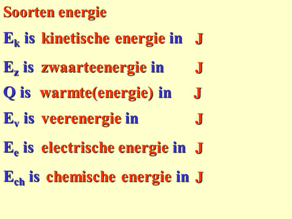 electrische energie in J