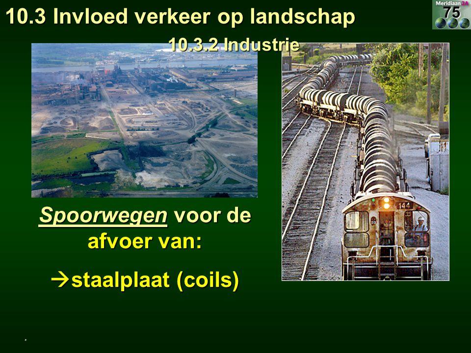 Spoorwegen voor de afvoer van: