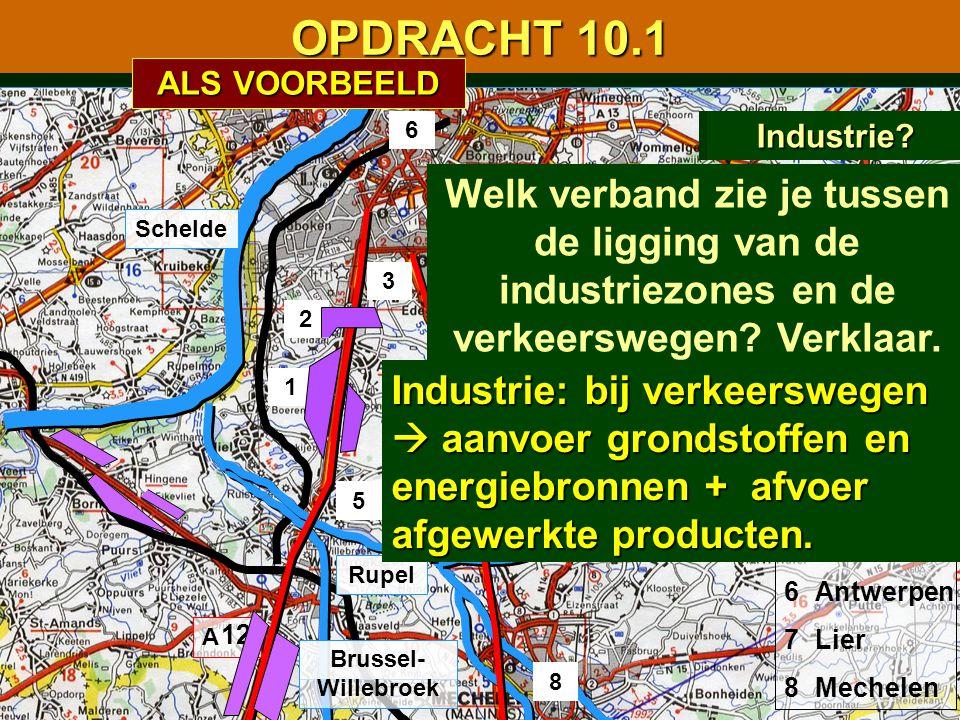 OPDRACHT 10.1 ALS VOORBEELD. 6. Waterwegen Spoorwegen Industrie