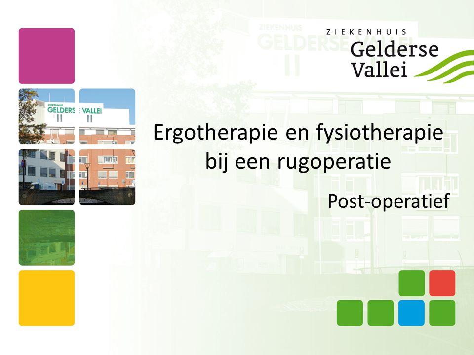 Ergotherapie en fysiotherapie bij een rugoperatie