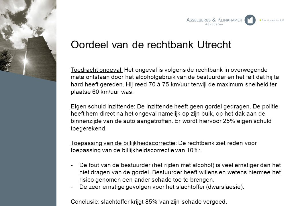 Oordeel van de rechtbank Utrecht