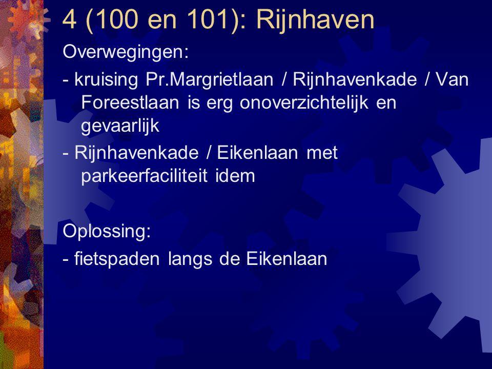 4 (100 en 101): Rijnhaven Overwegingen: