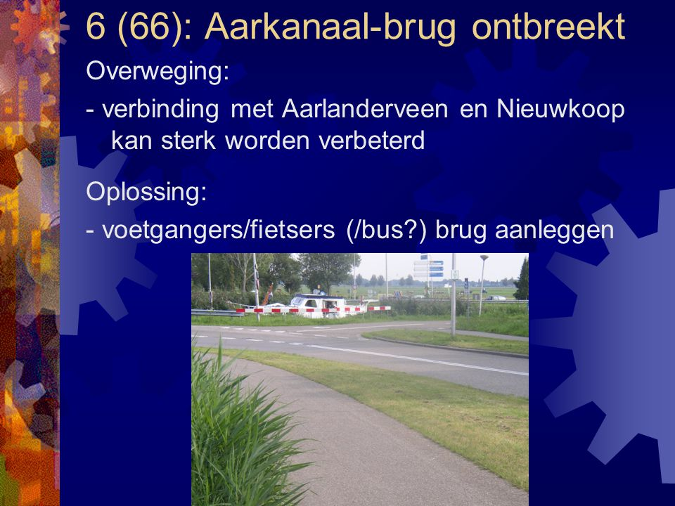 6 (66): Aarkanaal-brug ontbreekt