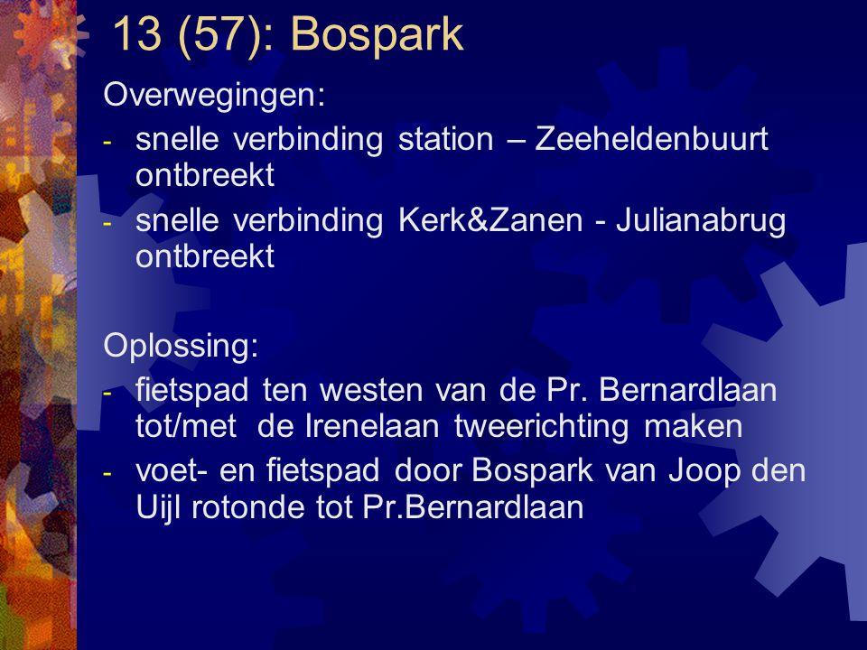 13 (57): Bospark Overwegingen: