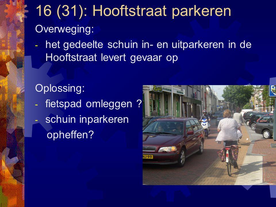 16 (31): Hooftstraat parkeren