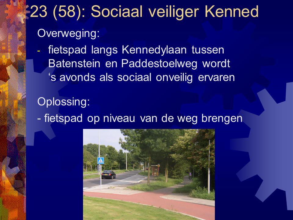 23 (58): Sociaal veiliger Kenned