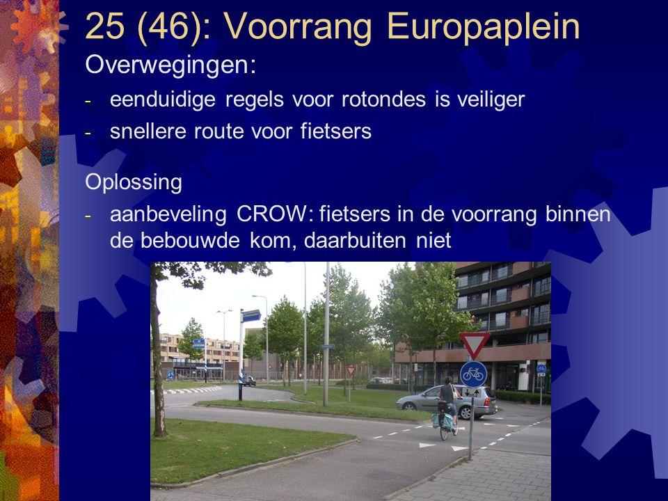 25 (46): Voorrang Europaplein