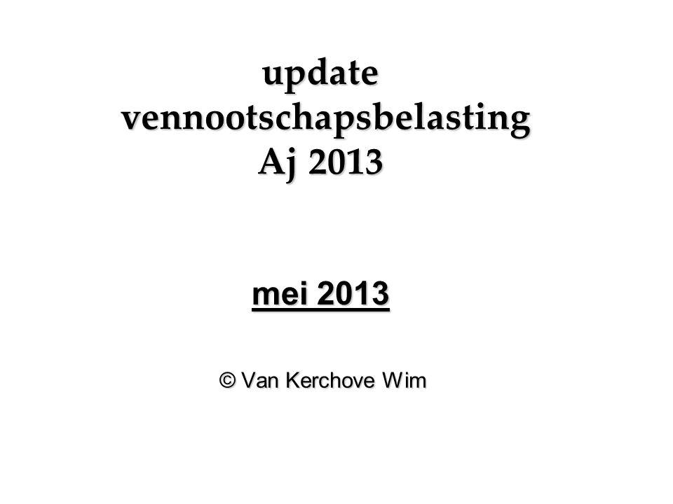 update vennootschapsbelasting Aj 2013 mei 2013