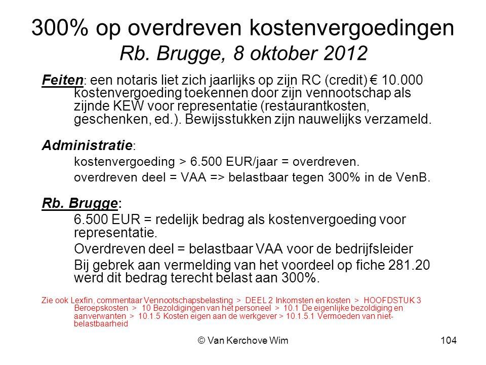 300% op overdreven kostenvergoedingen Rb. Brugge, 8 oktober 2012