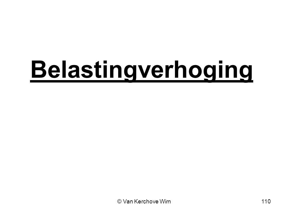 Belastingverhoging © Van Kerchove Wim 110 110