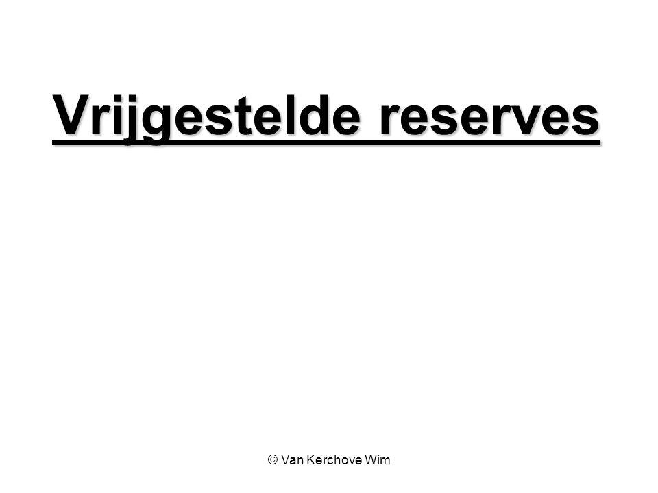 Vrijgestelde reserves