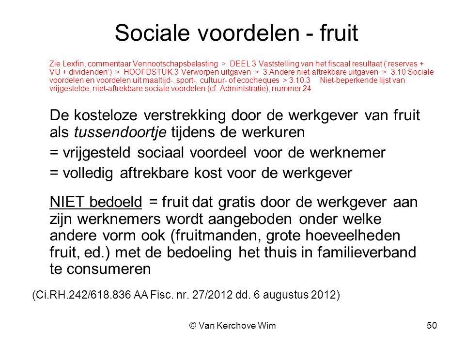 Sociale voordelen - fruit