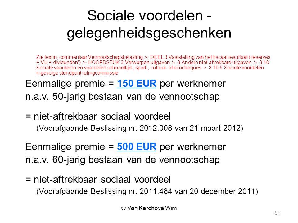 Sociale voordelen - gelegenheidsgeschenken