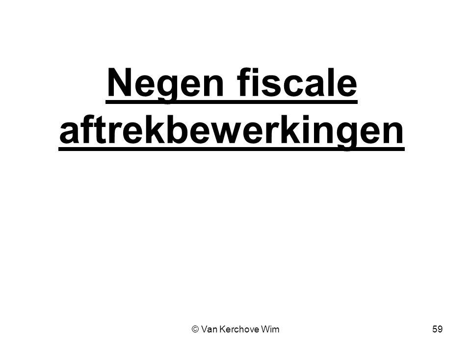 Negen fiscale aftrekbewerkingen