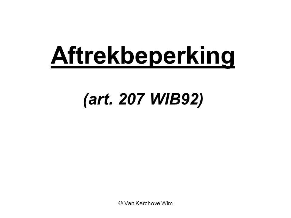 Aftrekbeperking (art. 207 WIB92)