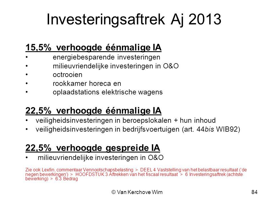 Investeringsaftrek Aj 2013