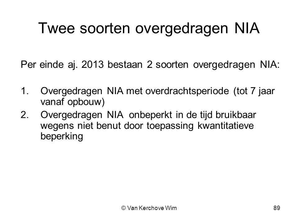 Twee soorten overgedragen NIA