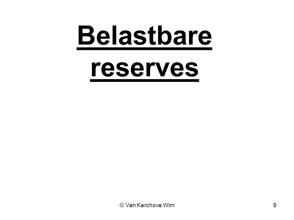 Belastbare reserves © Van Kerchove Wim 9