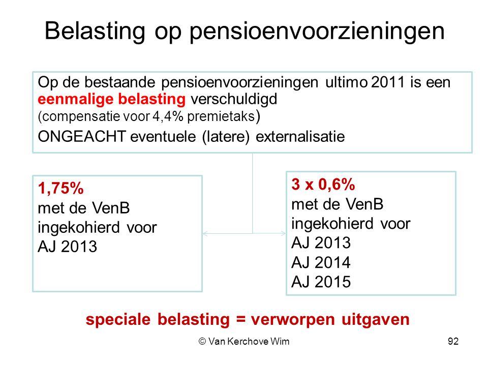Belasting op pensioenvoorzieningen