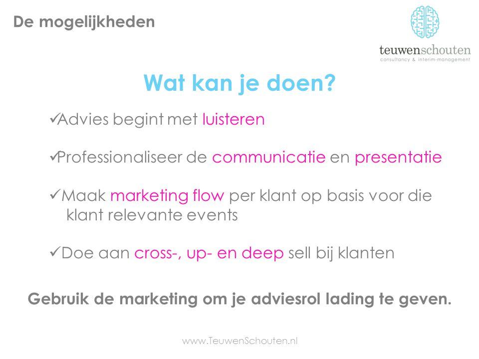 Gebruik de marketing om je adviesrol lading te geven.